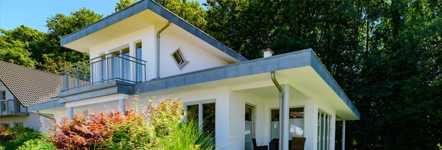maison avec toit plat